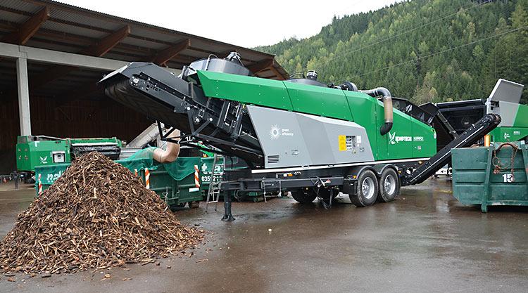 Steinabscheider im Einsatz bei Naturgut Kompostierung und Landschaftsbau GmbH